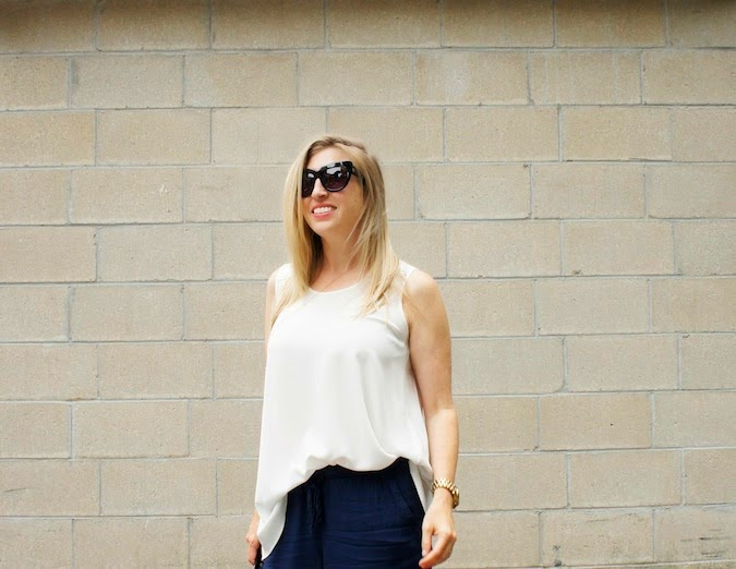 anne fontaine tank, abercrombie drapey olivia pants, boston style blog