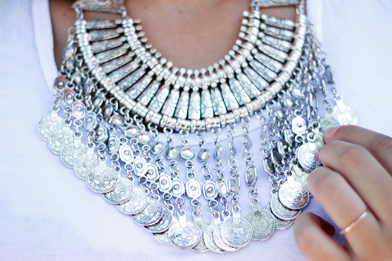 happiness boutique coin bib necklace