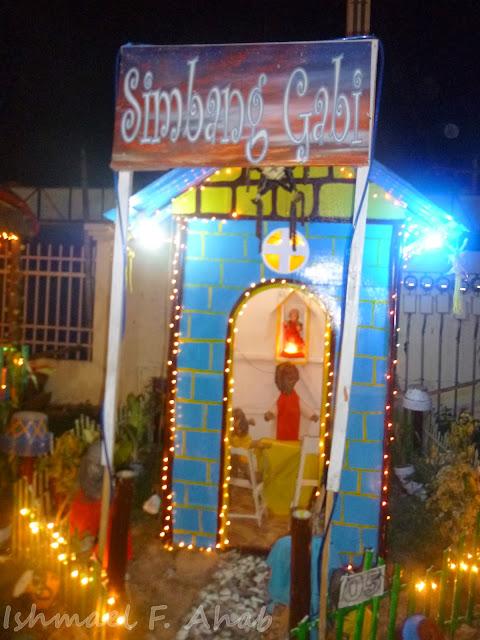 Simbang gabi scene in Kahayag Festival
