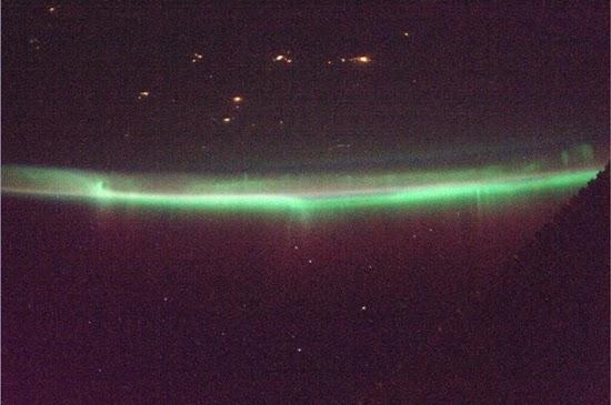 Astronot Jepang Memotret Aurora dari Luar Angkasa
