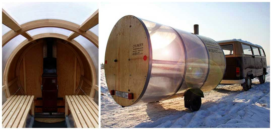 Transportable sauna Cylinder
