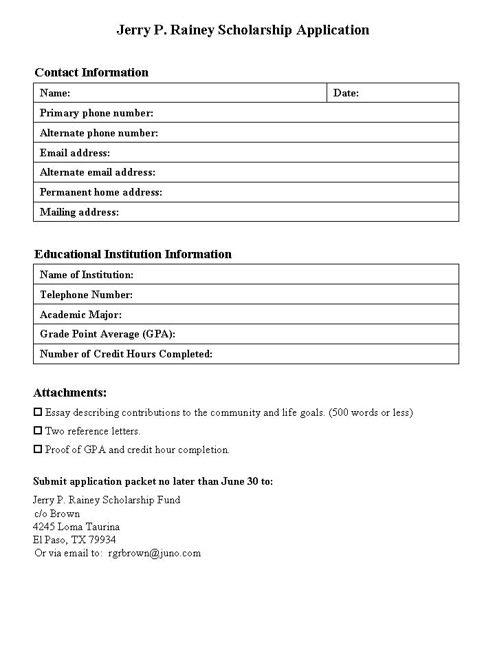 Blank+Scholarship+Forms Blank Scholarship Forms http://sfachapterix ...