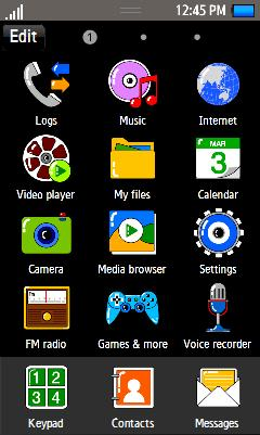 Samsung GT-S8500 Cute Vivid Theme Free Download Menu