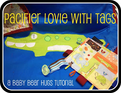 pacifier tag lovie blanket tutorial logo