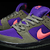 Nike SB Low Olive Atomic Red and  Electric Purple