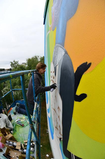 Street Art By Seth In Rennes, France For Teenage Kicks Urban Art Festival. 2