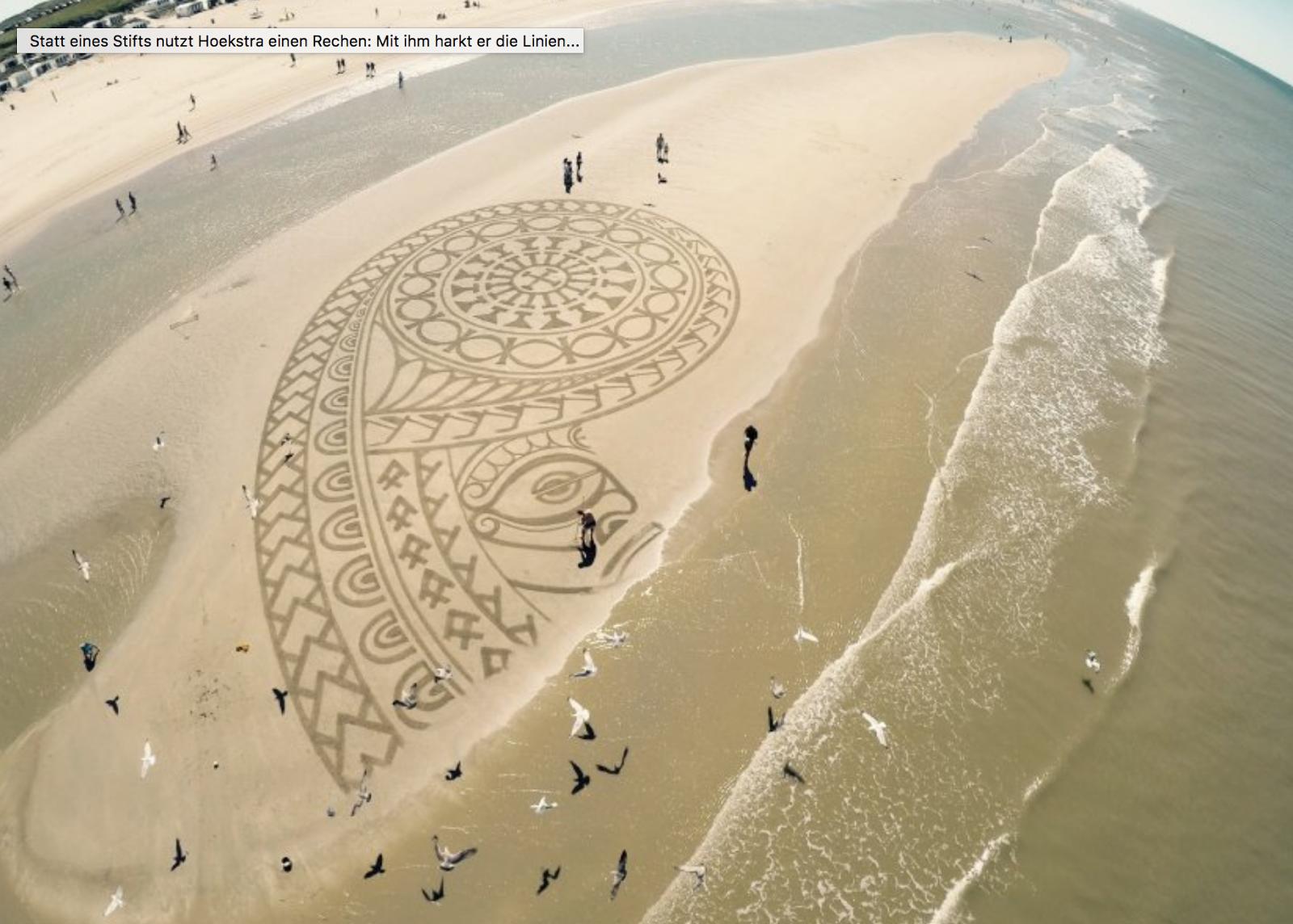 Vergängliche Beach-Art