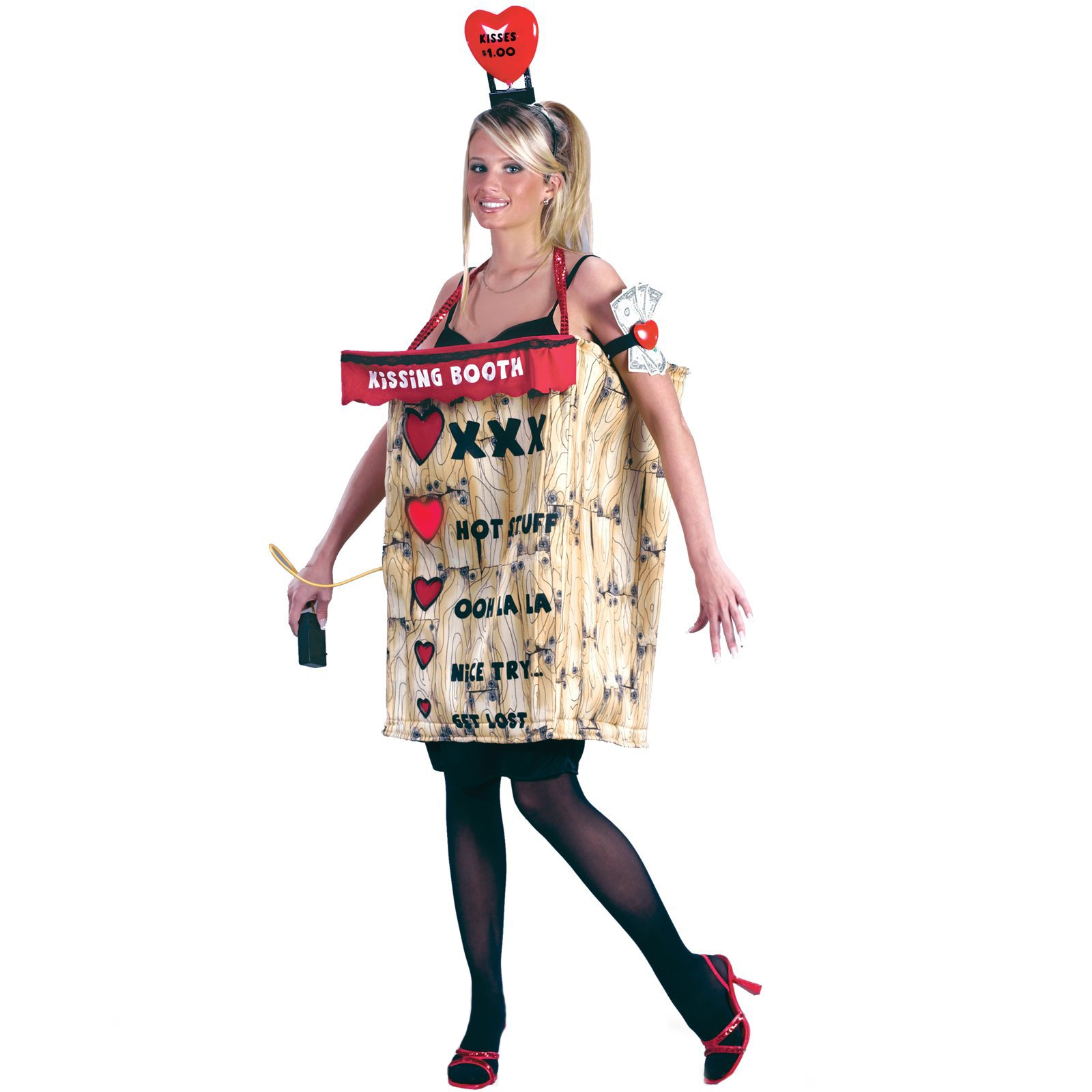 booth costume kissing2 - Clever Women Halloween Costumes