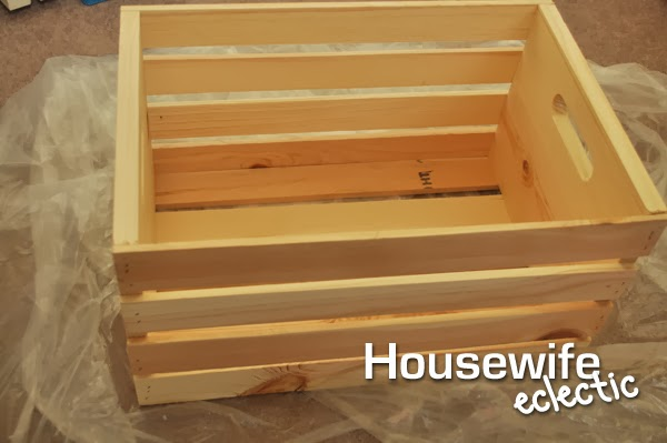 Housewife Eclectic: DIY Crate Shelf