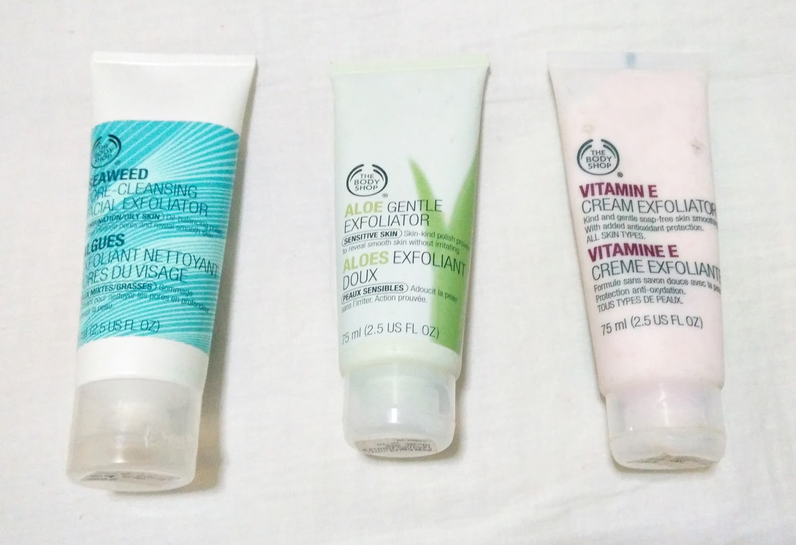 the body shop aloe exfoliator