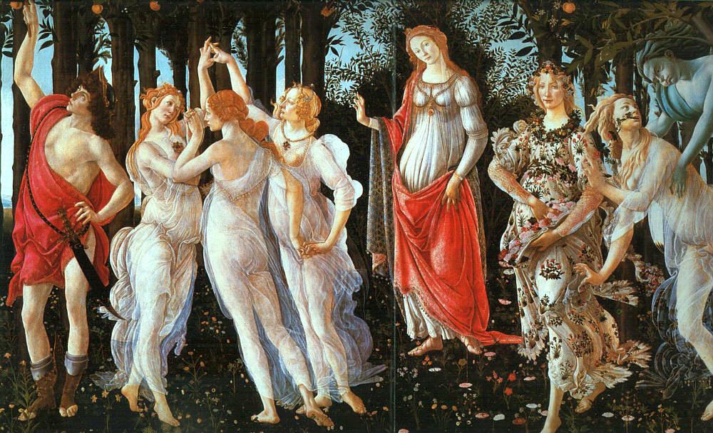 Flora la terza figura quindi la seconda donna da destra
