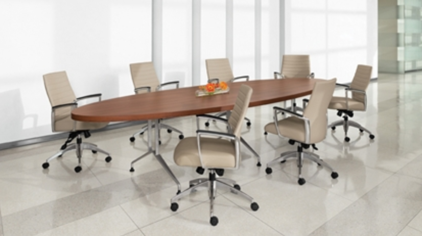 Global 12' Elliptical Conference Table