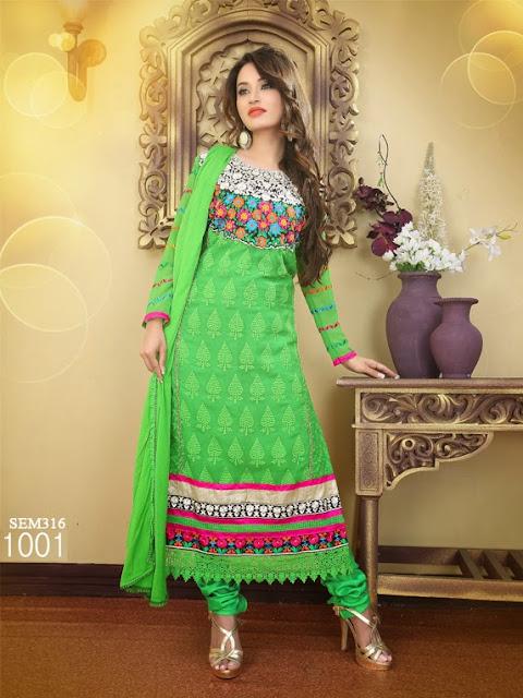 Buy Online Embroidery Neck Long Salwar Kameez