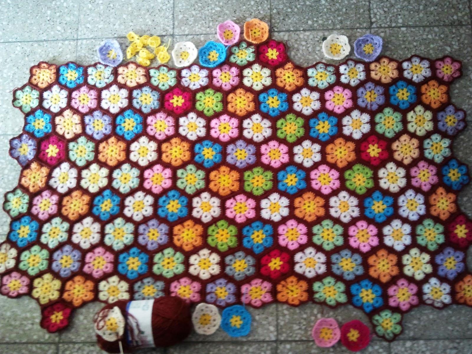 Un espacio para mi reporte de avances mantas crochet - Mantas a crochet ...