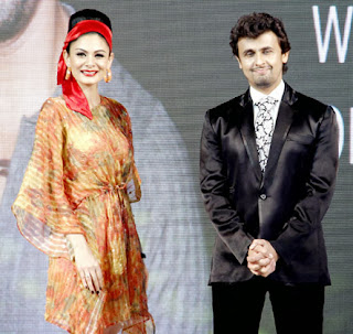 Karisma Kapoor & Sonu Nigam grace GLOBOIL India 2013 Awards