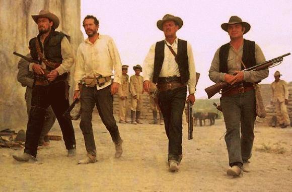 Ilustrasi dalam sebuah film cowboy