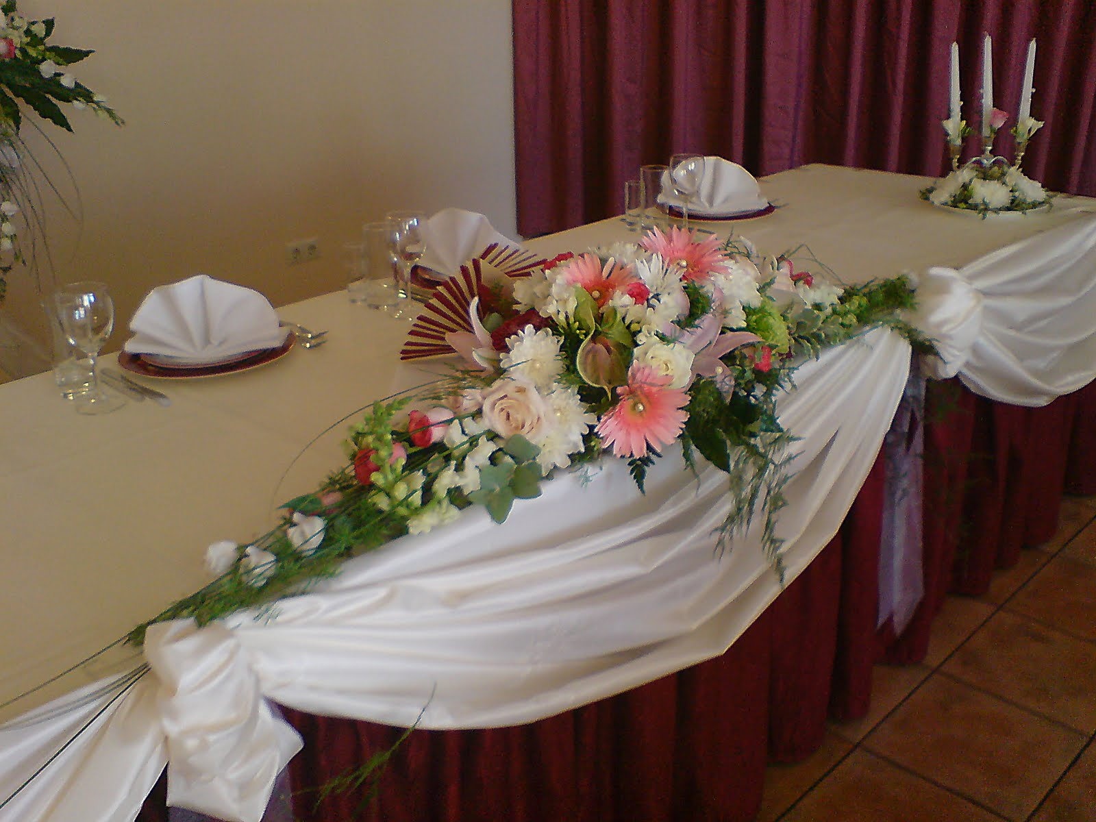 Оформление стола на свадьбу или любой праздник. Букетио 66