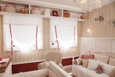 precioso dormitorio para ni as en beige y rojo