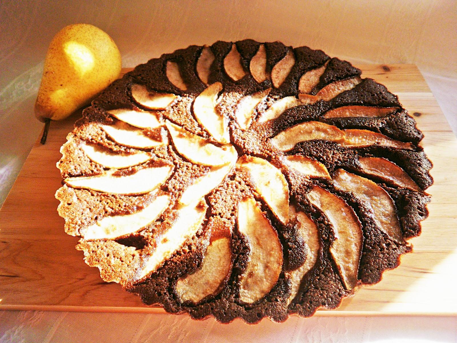 Chocolate Pear Tart | Azoresgal~Life on an Island