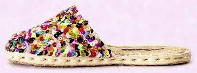 alpargatas da Guarda aberta bordada à mão com paetês colorfull