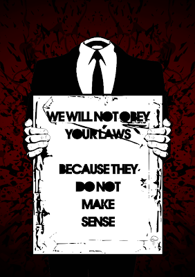 Bank of America Hacked by Anonymous - We Will not Obey your Laws because they don not make Sense