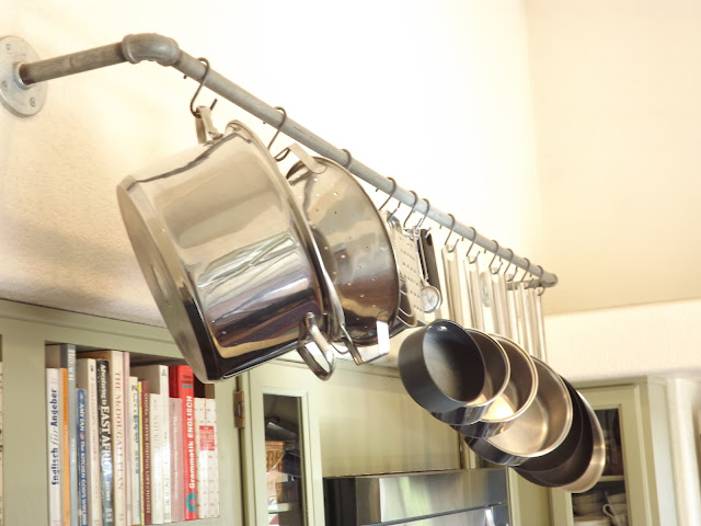 pot rack, diy pot rack, kitchen pot hanger