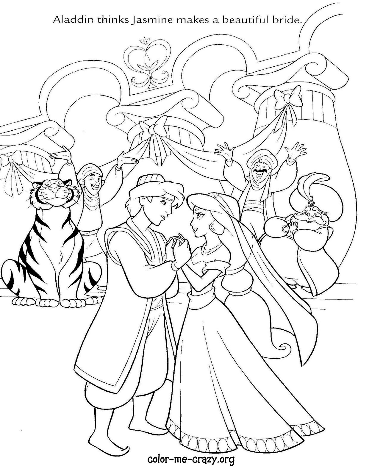 disney wedding coloring pages - photo#2