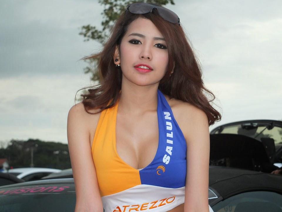 พริตตี้ ไซหลุน แข่งรถ Apex KPS