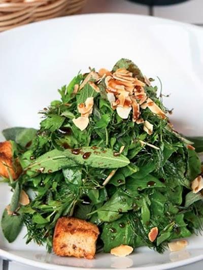Taze baharat salatası