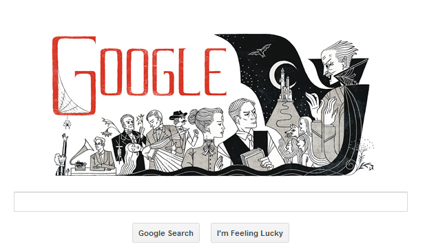 Bram Stoker 165th birthday google doodle