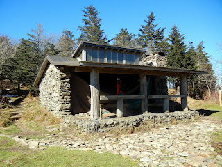 An overnight shelter on the Appalachian Trail in Smoky Mountain National Park