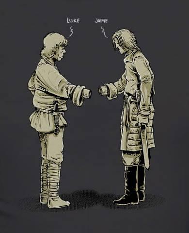 Jaime Luke apretón de no-manos - Juego de Tronos en los siete reinos