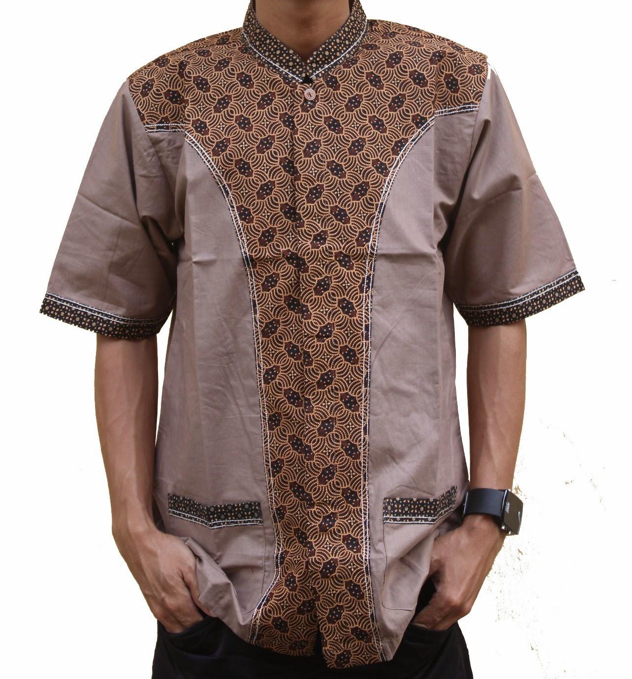 Baju koko elegan bermotif batik modern
