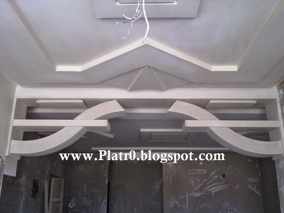 Decoration platre plafond simple - Decoration de plafond en platre ...