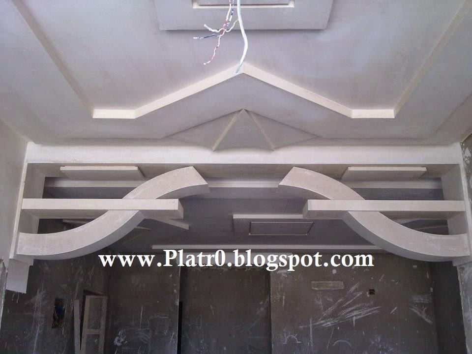 Decoration platre plafond simple for Decoration platre salon 2015