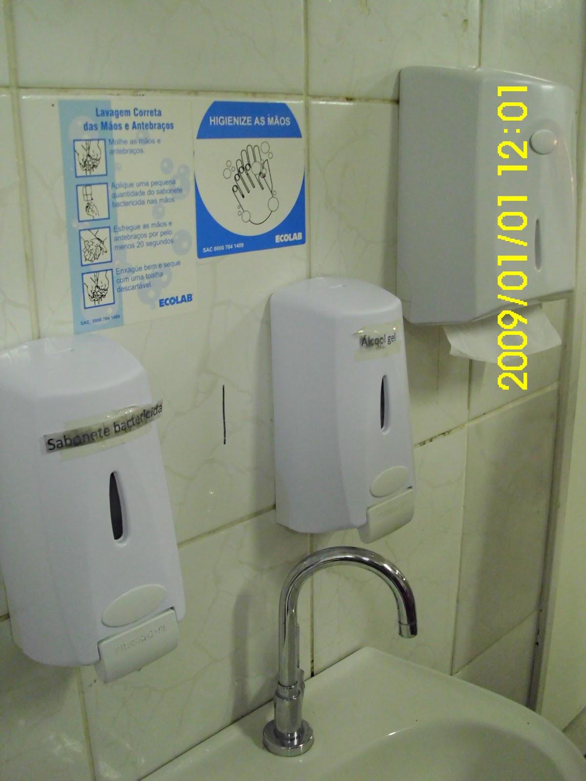Higienização de banheiros : Outubro vigil?ncia sanit?ria em alimentos