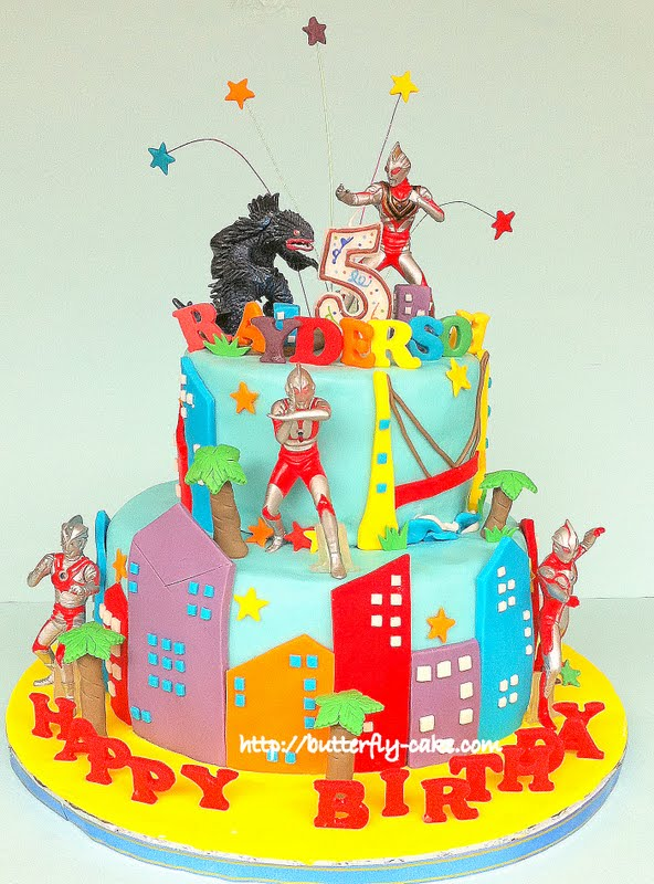Butterfly Cake Ultraman Cake for Ryder