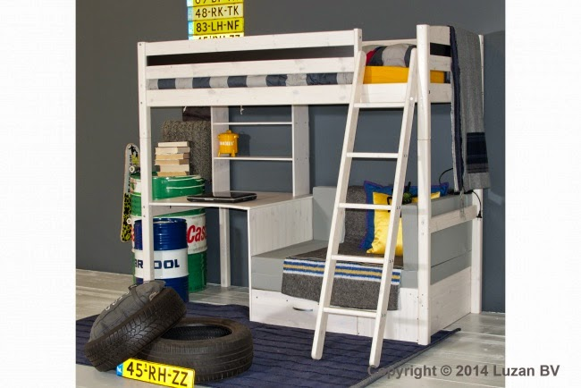 Hoogslaper Met Kasten Eronder : Bonny hoogslaper met bureau en extra bed eurobedden