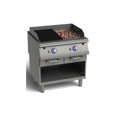 Freestanding Gas Grill - Lava Rock Grill With Cabinet