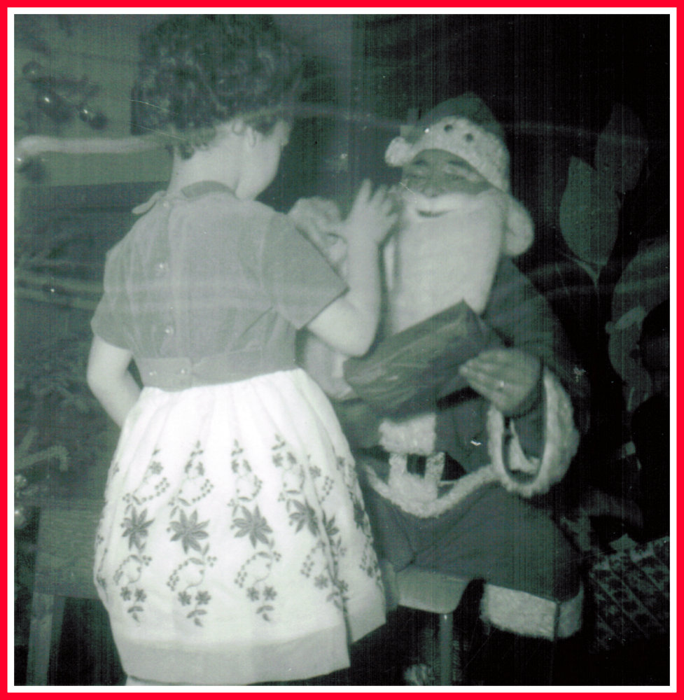 Yvonne with Santa Claus 1964