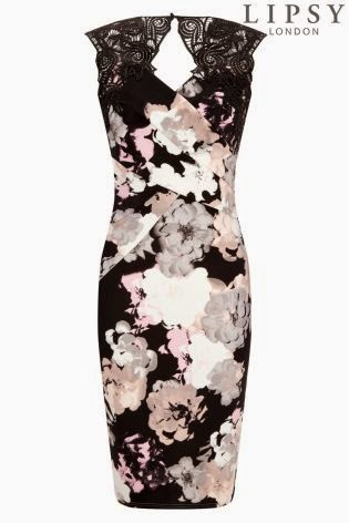 Lipsy Floral Print Shift Dress