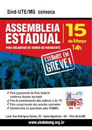 Assembleia Estadual dia 15 de março.
