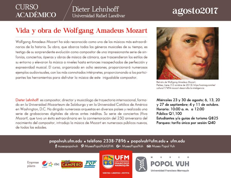 Vida y obra de Wolfgang Amadeus Mosart