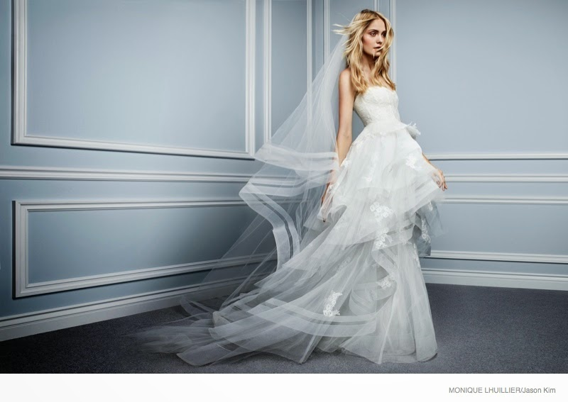 Monique Lhuillier Spring/Summer 2015 Bridal Campaign featuring Heidi Mount