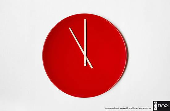 anúncios minimalistas e criativos na internet - Nori