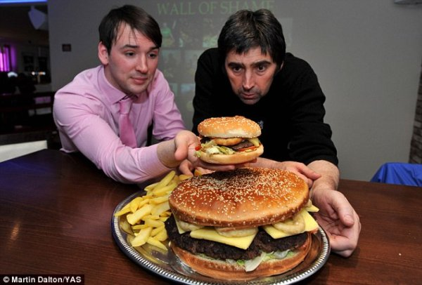 [FOTO] La hamburguesa más grande del Reino Unido