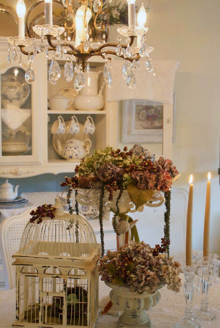My romantic home revisiting autumns past show and tell for Shabby chic cottage decor