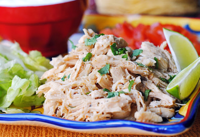 Taqueria Style Slow Cooker Shredded Chicken