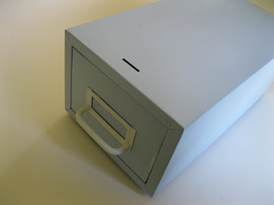 spray painted file drawer