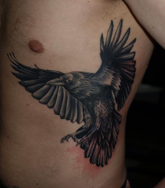 Raven tattoo3d tattoos for Ravens face tattoos